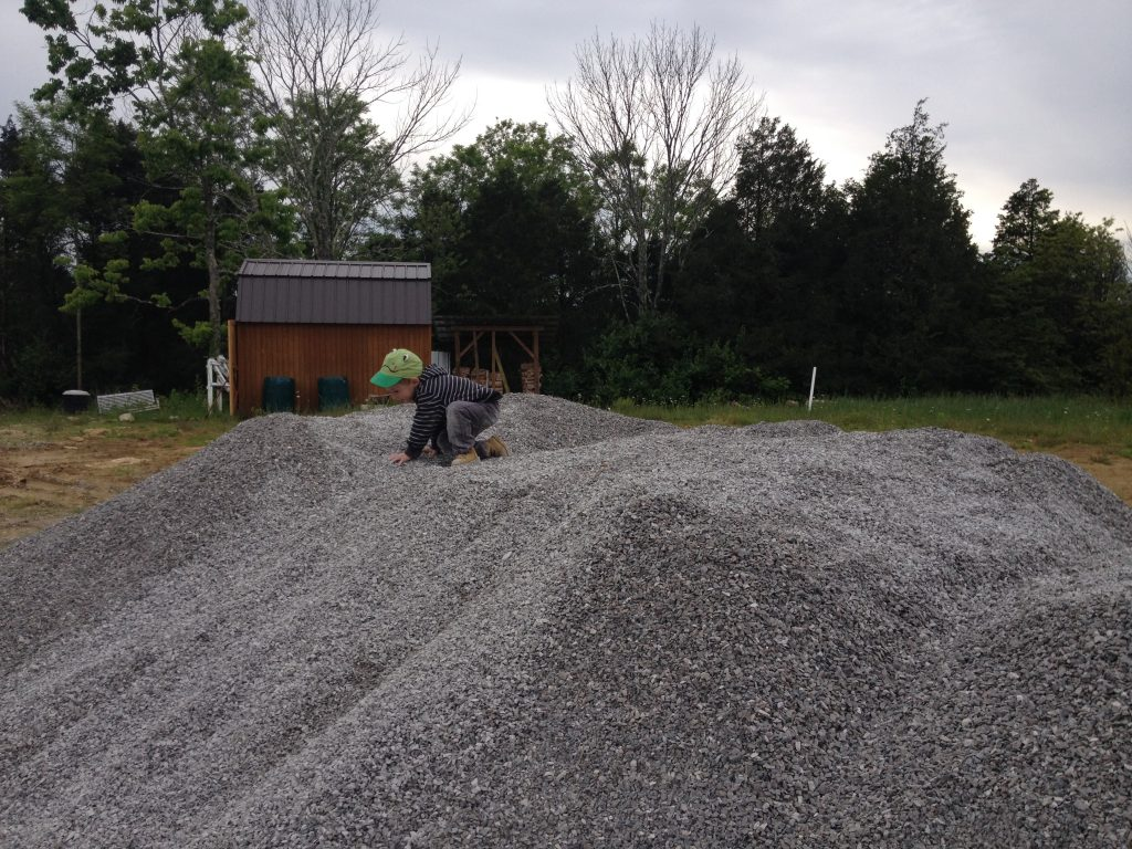 on the gravel pile3