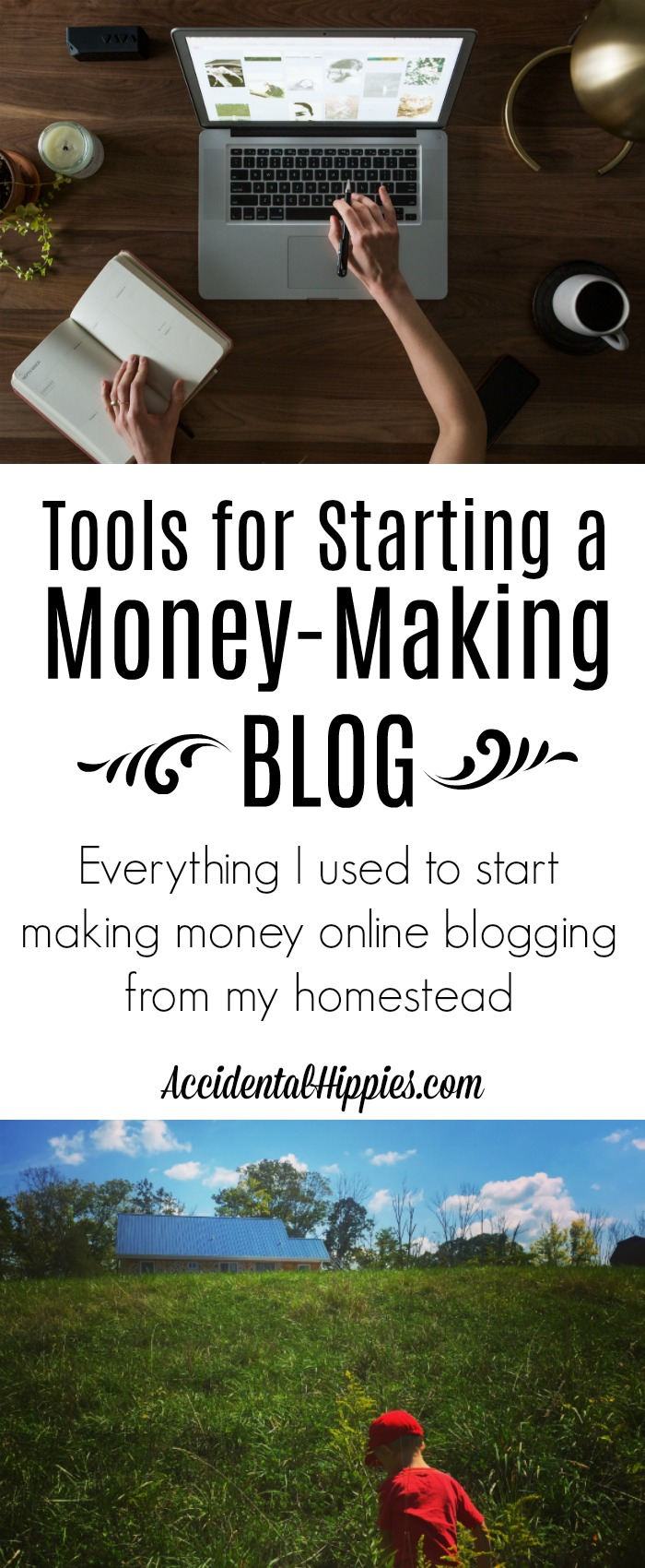 Starting a money making blog doesn't have to be hard. Learn about the tools I used to go from hobby blogging to making a real income online from my homestead.