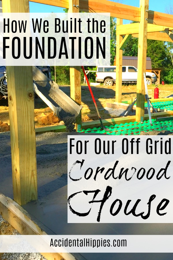 The exact steps we took to build our cordwood home's foundation, plus what we considered before we built. Read more here.