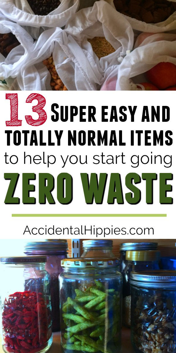 New to zero waste? Want to reduce plastic in your life beyond just getting rid of straws? Check out these 13 items that anyone can use every day to reduce single use plastics and extra waste. #zerowaste #reduceplastic #wastefree #reusableitems #reusablebags #plasticalternatives