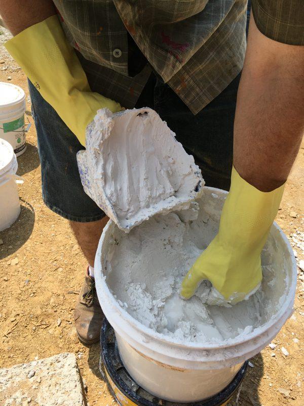 Lime putty for cordwood mortar